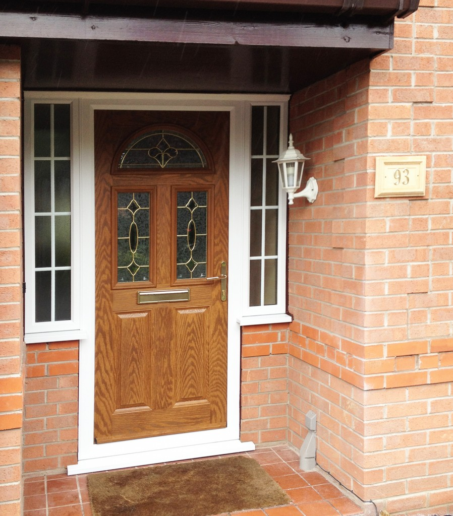 Legend Chamfered Golden Oak PVC-U door external