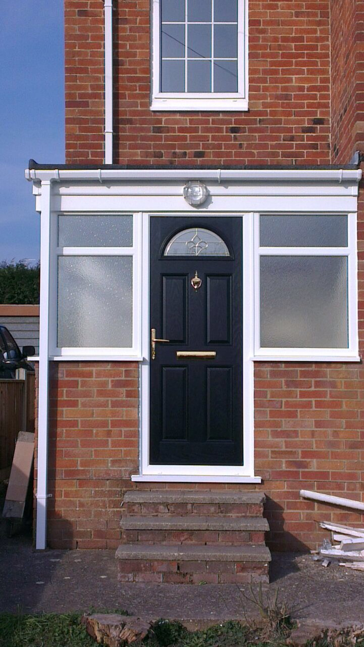 New porch including composite front door window wizards for Porch windows and doors